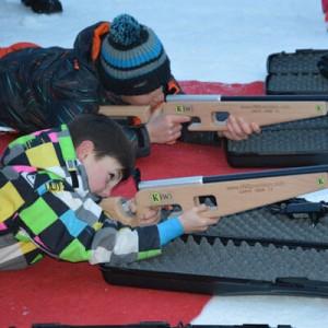 Cours ESF de biathlon laser à Formiguères