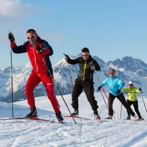 Cours de ski de fond avec l'ESF de Formiguères