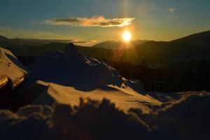 Coucher de soleil sur le Capcir