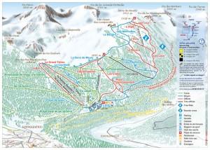 Plan des pistes de Formiguères