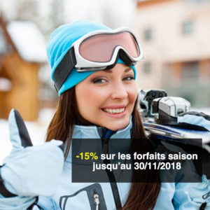 Promo Forfaits saison de ski -15 %
