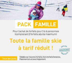 Pack forfaits famille
