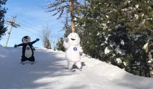 Mascottes de la station de ski