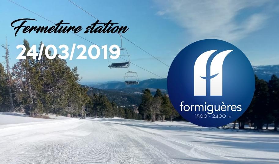 Fermeture de la station Dimanche 24 mars 2019