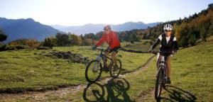 Activité vélo en montagne