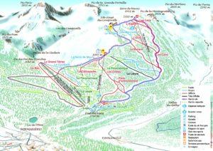 Plan des pistes, Station de Formiguères