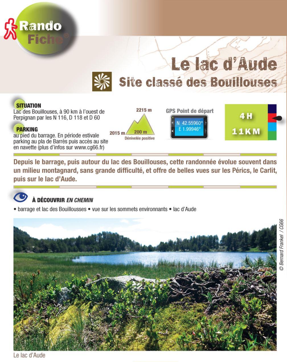 Rando Fiche Lac d'Aude - CG66